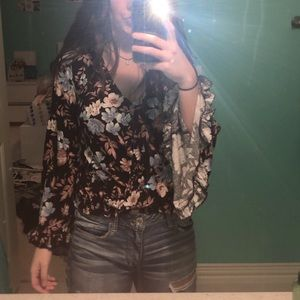 Wrapped floral top